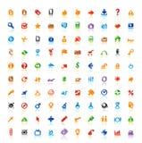 100 icone perfette Fotografie Stock Libere da Diritti