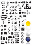 100 Icons + 4 Buttons for your web Royalty Free Stock Photography