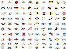 100 insignias y elementos del vector Foto de archivo libre de regalías