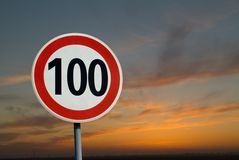 100 Km Limit royalty free stock images