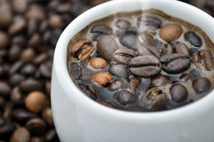 100% Koffie Stock Foto
