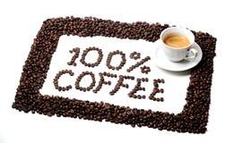 100% koffie Royalty-vrije Stock Foto's