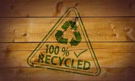 100 τοις εκατό που ανακυκ&la Στοκ Εικόνες
