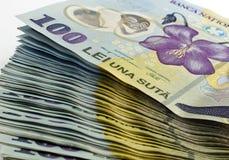 100 lei румынско Стоковые Фото
