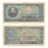 100 lei. Communist old Romanian money Royalty Free Stock Photo