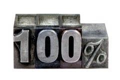 100 letterpress Fotografia Royalty Free