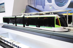 100% low-floor LRV tram model Stock Images
