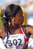 100 mètres de femmes de nwawulor de la Grande-Bretagne Photos stock