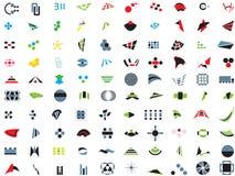 100 marchi ed elementi di vettore Fotografia Stock Libera da Diritti