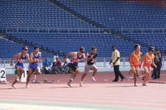 100 medidores dos homens para pessoas cegas Fotografia de Stock