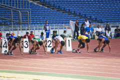 100 medidores dos homens para pessoas incapacitadas Imagem de Stock