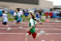 The 100 meter dash Royalty Free Stock Image