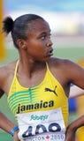 100 Meter Frauenjamaika palmer Lizenzfreie Stockfotografie