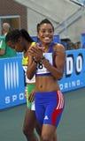 100 meter vrouwenFrankrijk Royalty-vrije Stock Foto's