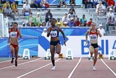 100 Meterfrauen Ungarn USA Deutschland Stockbild