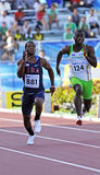 100 Metermänner USA Australien lizenzfreies stockbild