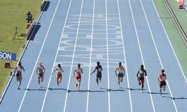 100 Meters Athletics Race Royalty Free Stock Photos