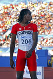 100 metres men canada brown Stock Photography