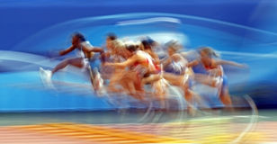 100 metres womens hurdles Royalty Free Stock Photos
