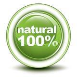 100% milieuWebdrukknop Stock Afbeelding