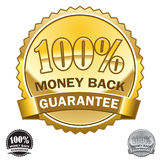 100% Money Back Guarantee Icon. Complete color match. Vector Art Royalty Free Stock Photos