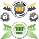 100% natürlich, Zufriedenheit garantiert Lizenzfreies Stockbild