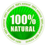 100% natural. Certificate vector label Royalty Free Stock Images
