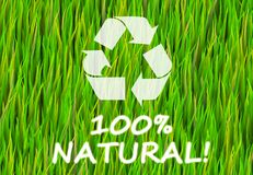 100% Natural. And Pure Now Abstract Background stock illustration