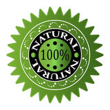 100 % NATURAL Royalty Free Stock Photos
