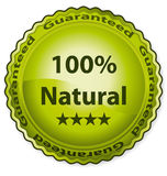 100% natural. Certificate vector label vector illustration