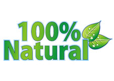 100% natural. Seal isolated on white royalty free illustration