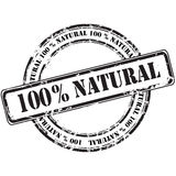 %100 natural grunge rubber stamp background Stock Image