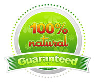 100% Natural Guaranteed royalty free illustration