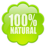 100 natural icon Royalty Free Stock Photography