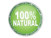 100 % NATURAL label Stock Photo