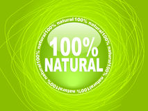 100 % NATURAL label. Vector illustration royalty free illustration