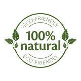 100% natural rubber stamp. Rubber stamp with 100% natural written in the middle Royalty Free Stock Photography