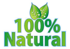 100% natural seal Royalty Free Stock Images