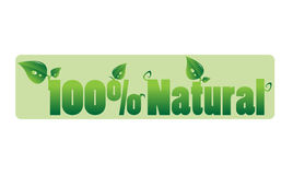 100% Natural sign Royalty Free Stock Photos