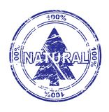 100% natural stamp (vector) Stock Photography