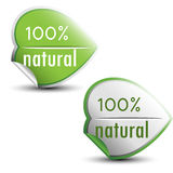 100% natural stickers Royalty Free Stock Photo