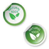 100% natural stickers Royalty Free Stock Photography