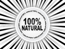 100% natural web buttons. Vector illustration Stock Photography