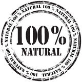 %100 naturalny grunge pieczątki tło Fotografia Stock