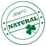 100 naturalny znaczek Obrazy Royalty Free
