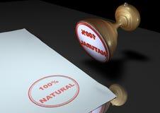 100 naturalny znaczek ilustracji