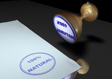 100 naturalny znaczek ilustracja wektor