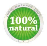 100 naturliga procent Arkivbild