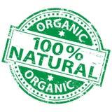 100 naturliga procent rubber stämpel Arkivfoto