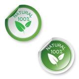100% natuurlijke stickers Royalty-vrije Stock Fotografie